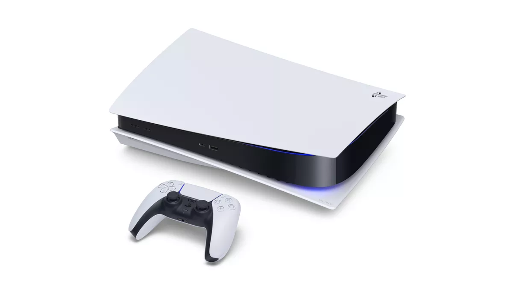 A photo of the PlayStation 5.