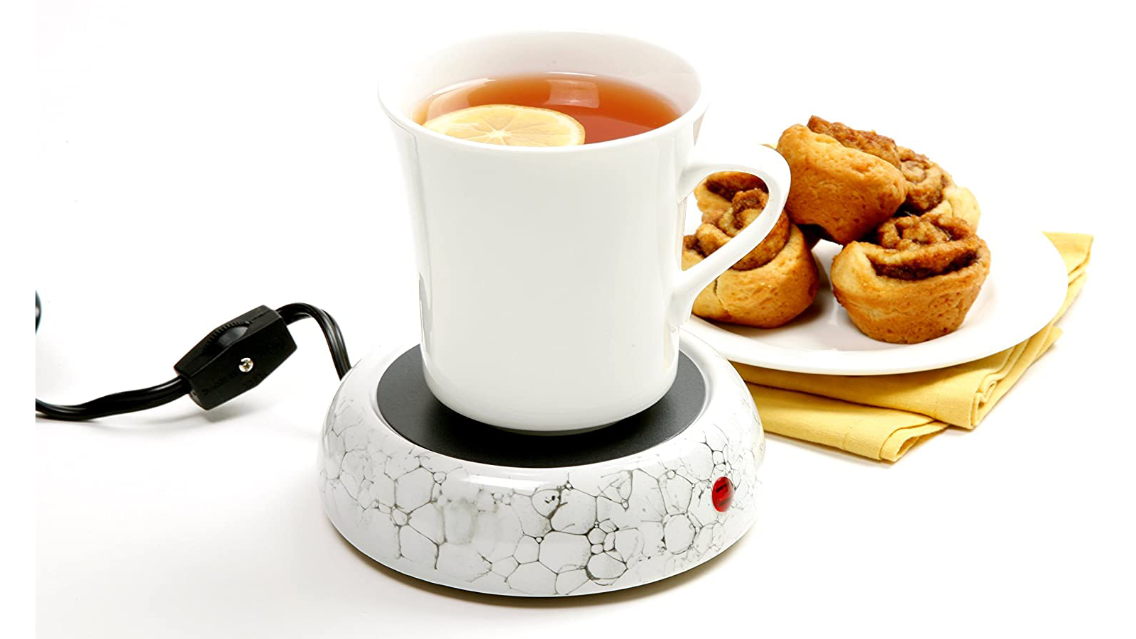 USB-Charged Cup Warmer for coffee, tea, or cocoa