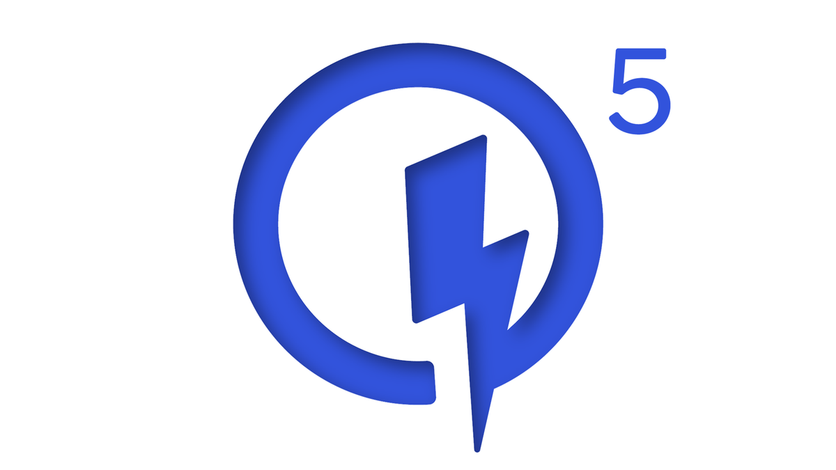 The Quick Charge 5 logo.