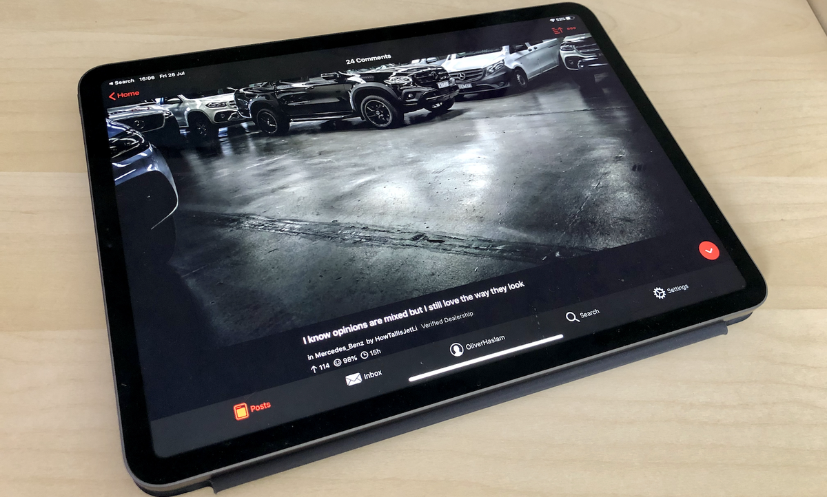 iPad Pro running Apollo