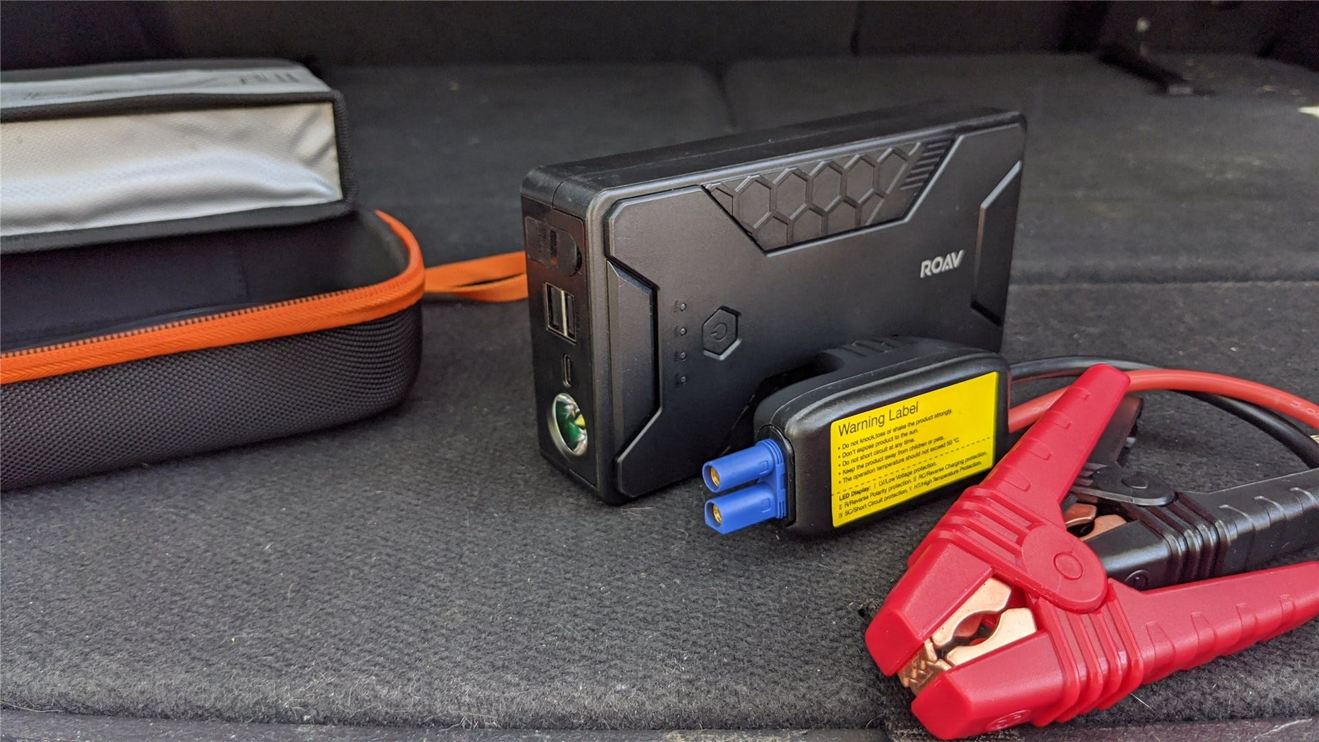 The Anker Roav portable battery with car booster cables