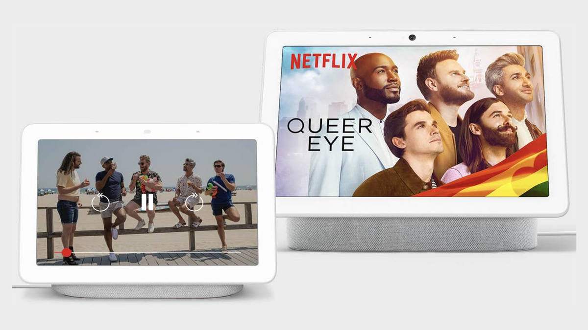 Queer Eye on a Google Nest Hub and Nest Hub Max.