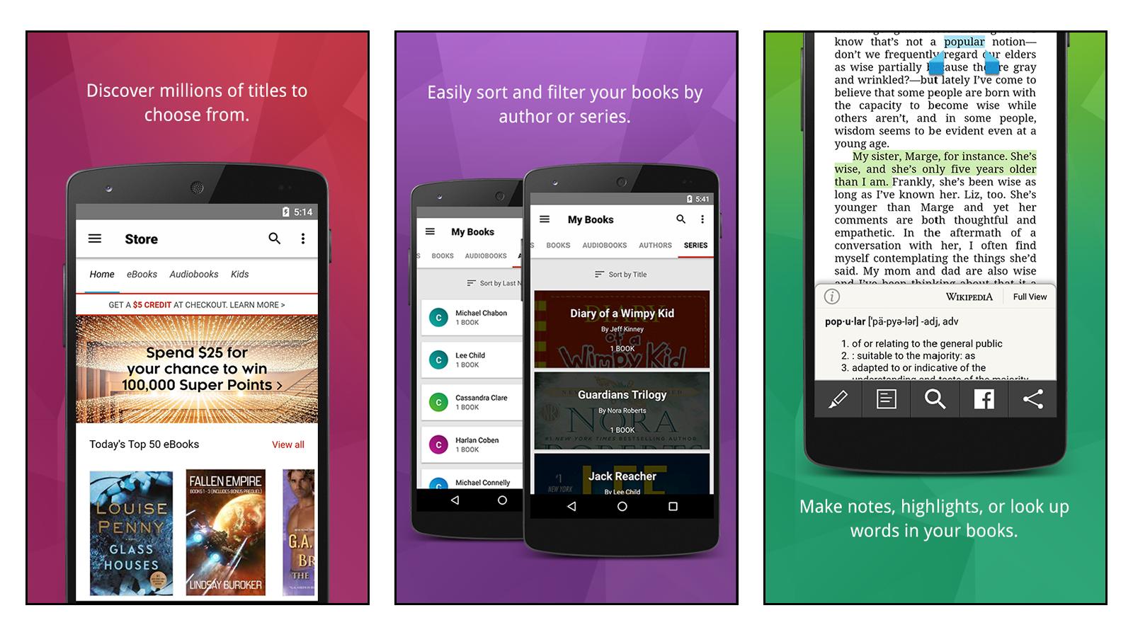 Kobo best easy to use book reader app