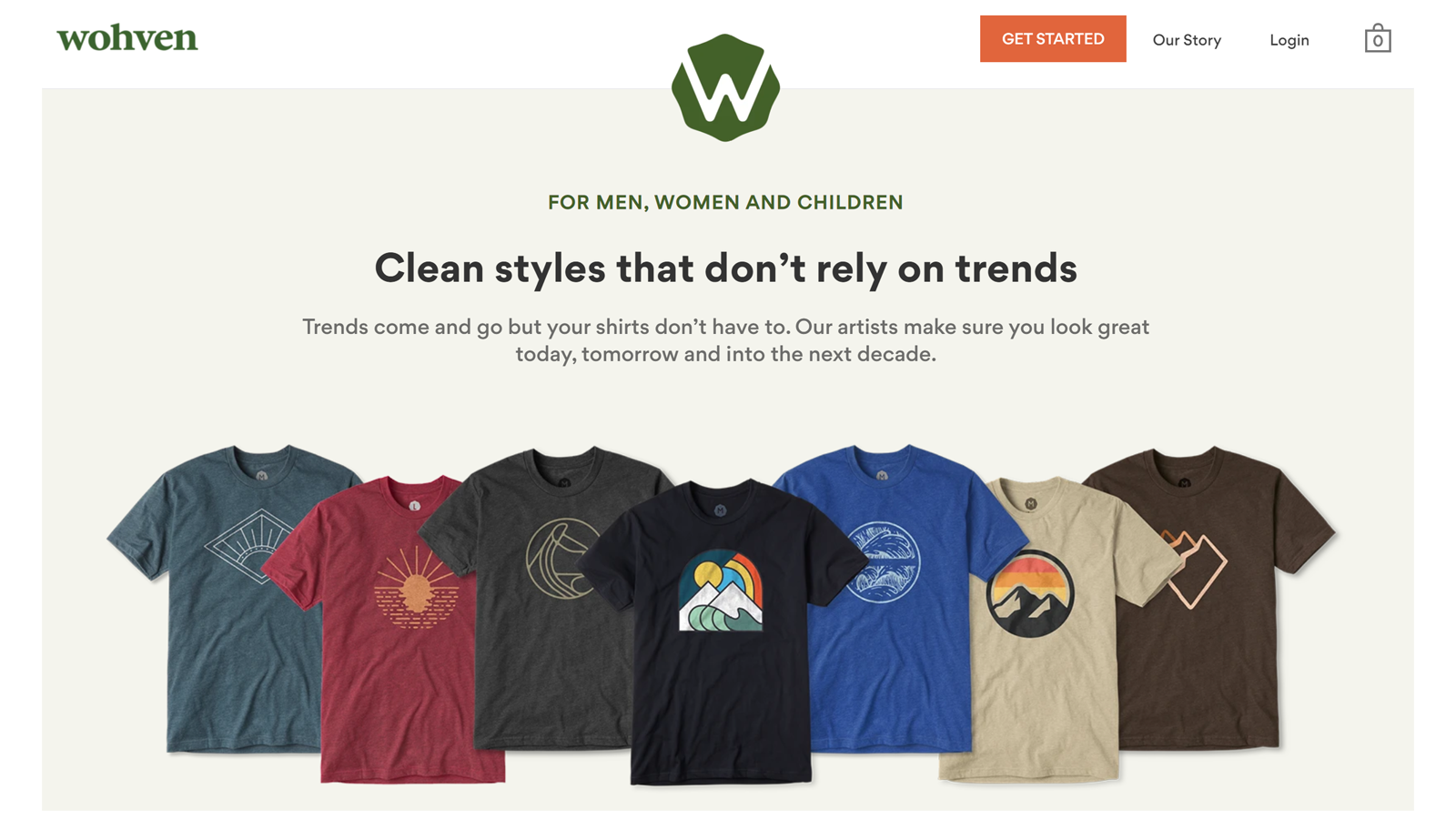 Wohven monthly tshirt subscription service plain tees and graphic tees