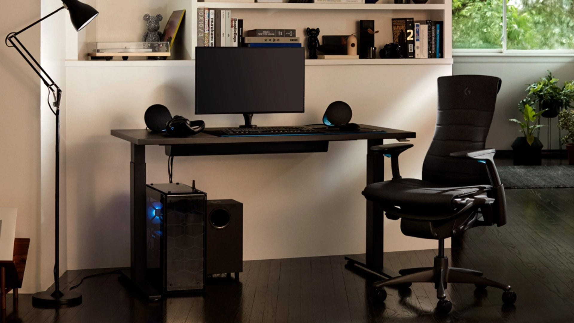 Herman Miller Embody chair and Moita desk in a home office