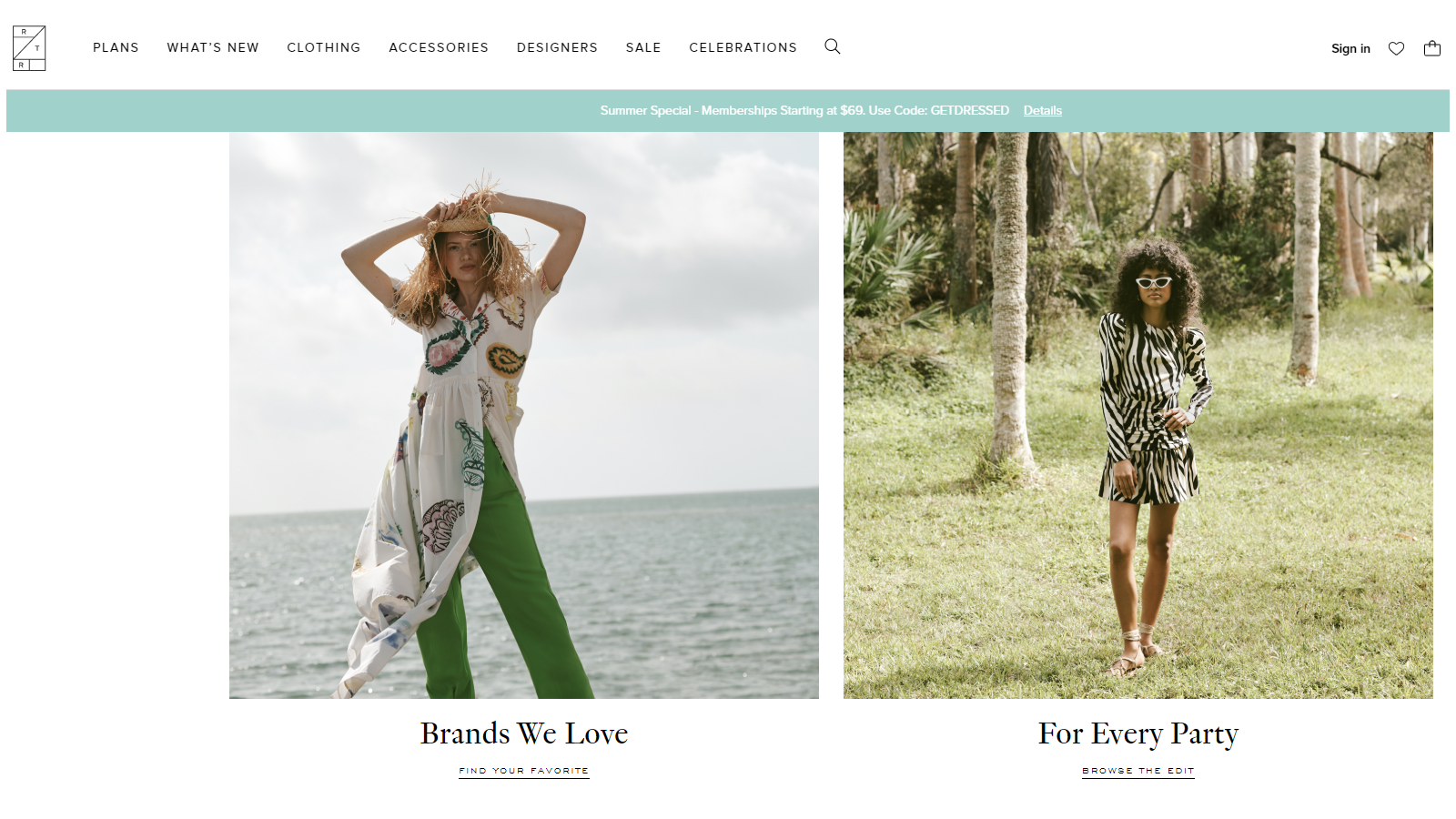 Rent the Runway rent designer clothes each month people wearing designer clothes outside in a beautiful photoshoot