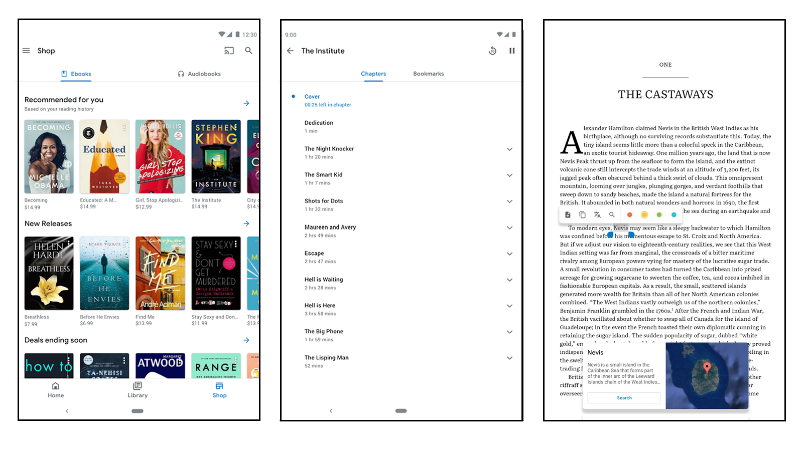Google Play Books best book reader app for android for g suite purchase and download books upload your books audiobooks