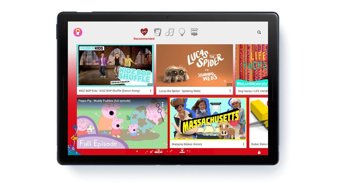 The YouTube Kids app on an iPad
