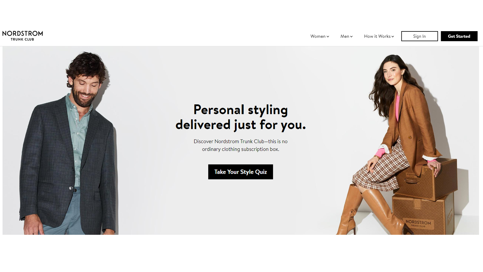 Nordstrom Trunk Club fashion subscription box for men and women who like Nordstrom style clothes