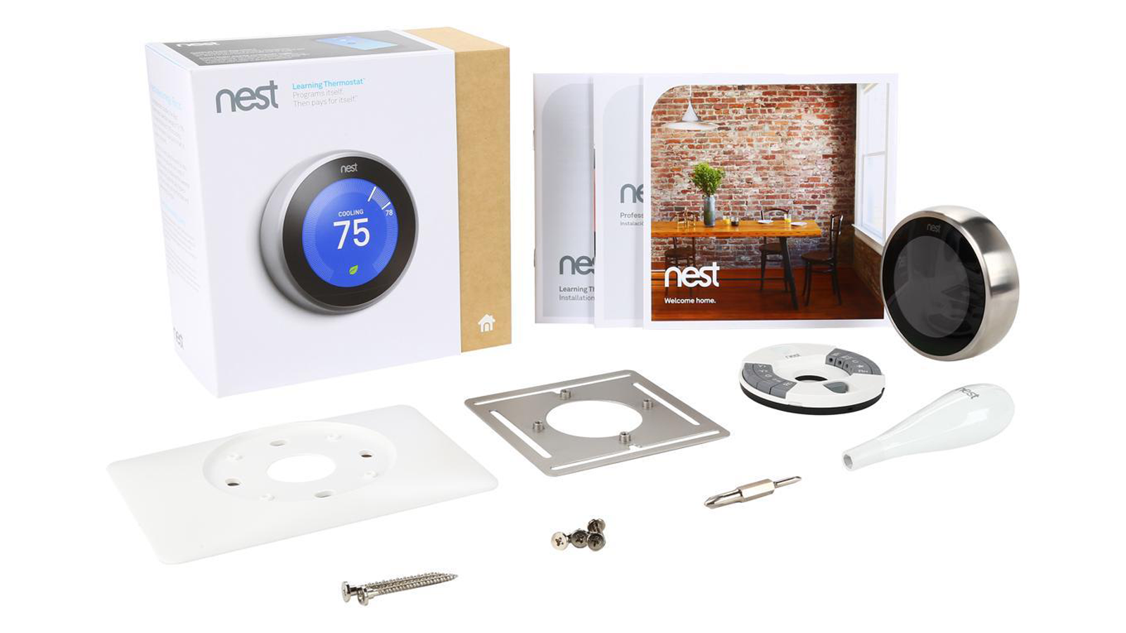 Nest Learning Thermostat is the best programmable thermostat for regulating air conditioning during the summer