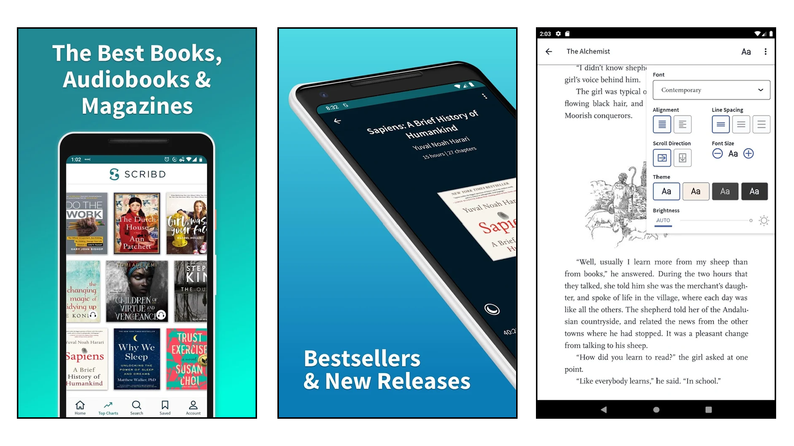 Scribd best premium book reader app netflix for books magazines audiobooks documents sheet music unlimited books each month