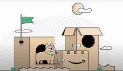 Convert Amazon's New Boxes into a Mighty Fort for Your Cat