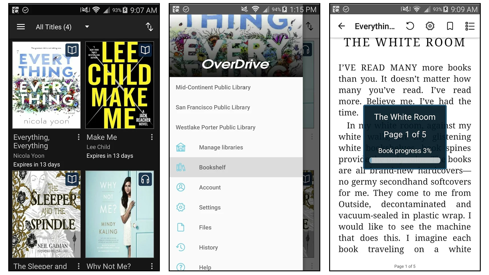 OverDrive best book reading app for library books borrow library books online