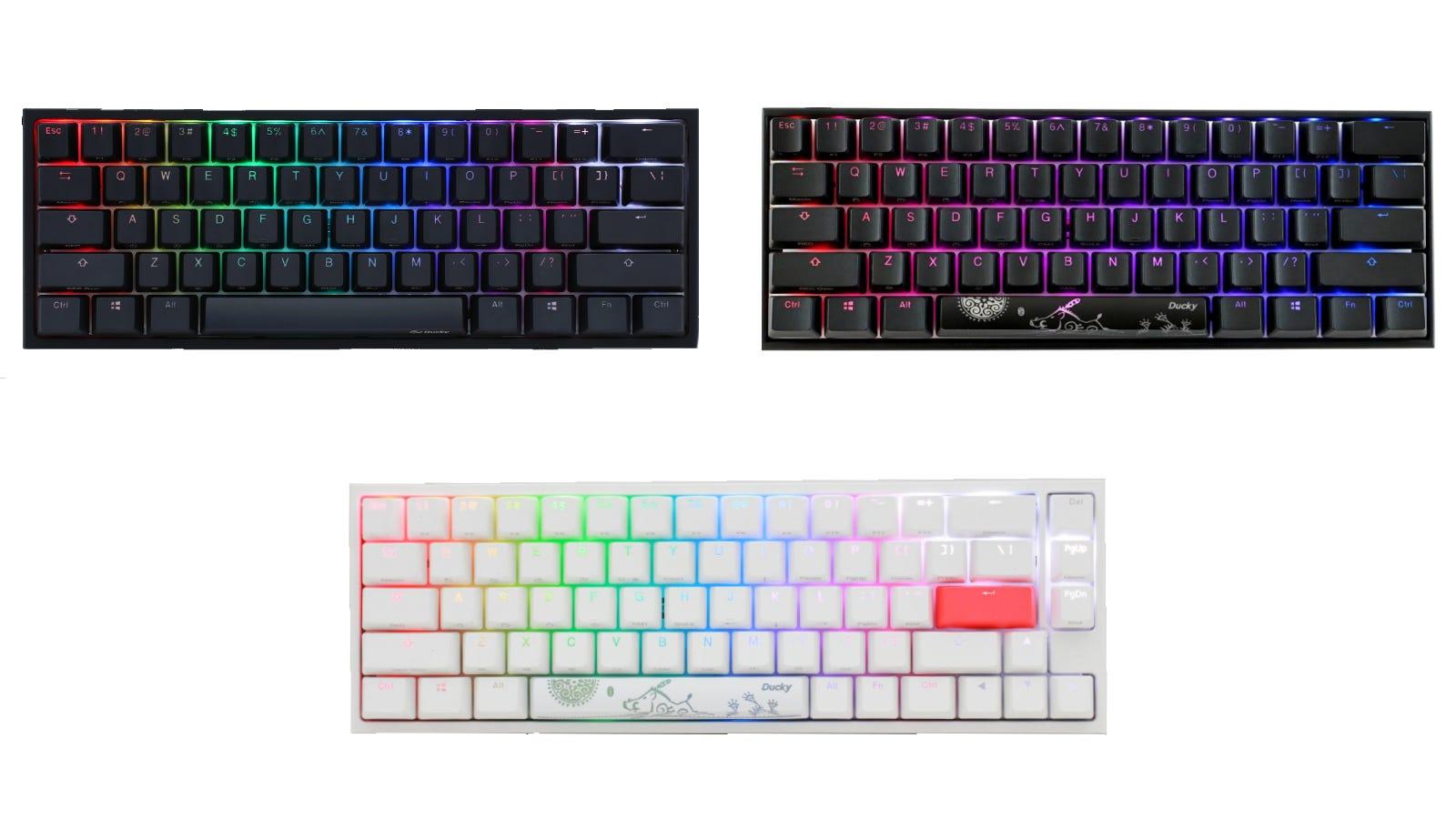 Ducky One 2 Mini, One 2 SF, and Mecha Mini Keyboards