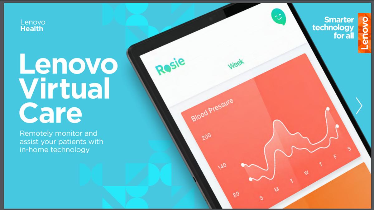 An illustration of the Lenovo Virtual Care service.