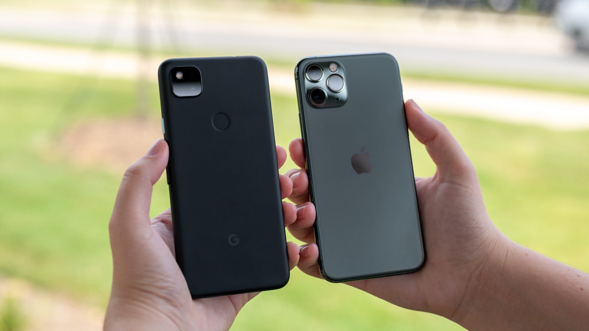 Comparing Pixel 4A to iPhone.