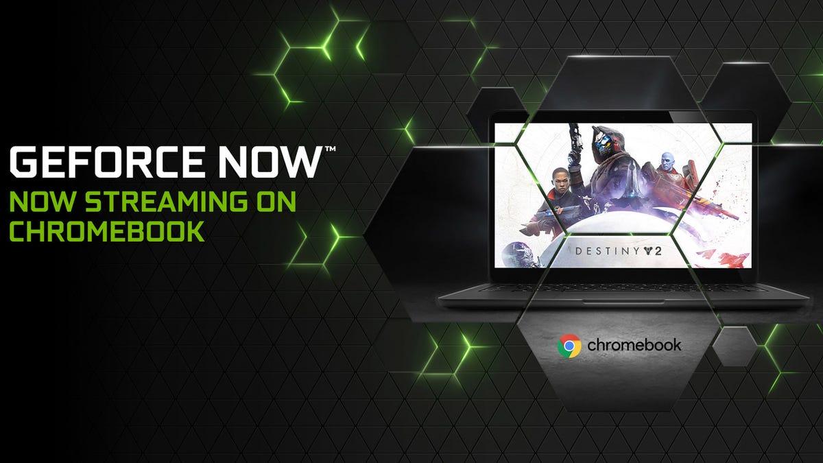 GeForce NOW running on a Chromebook