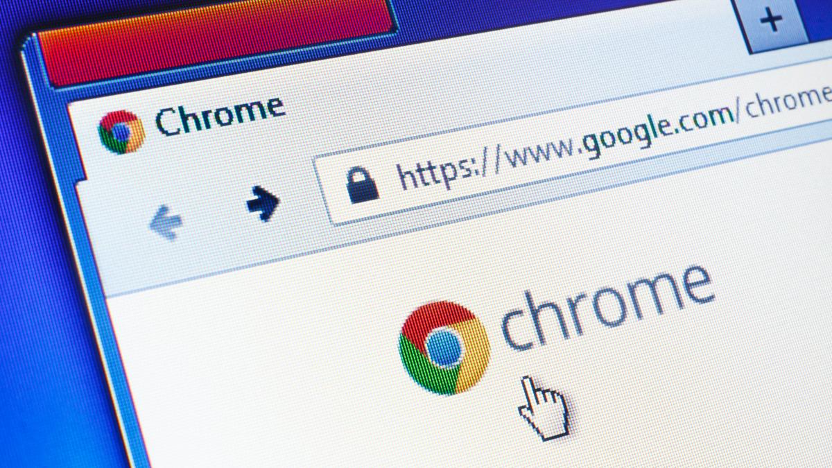 Google Chrome homepage on computer screen