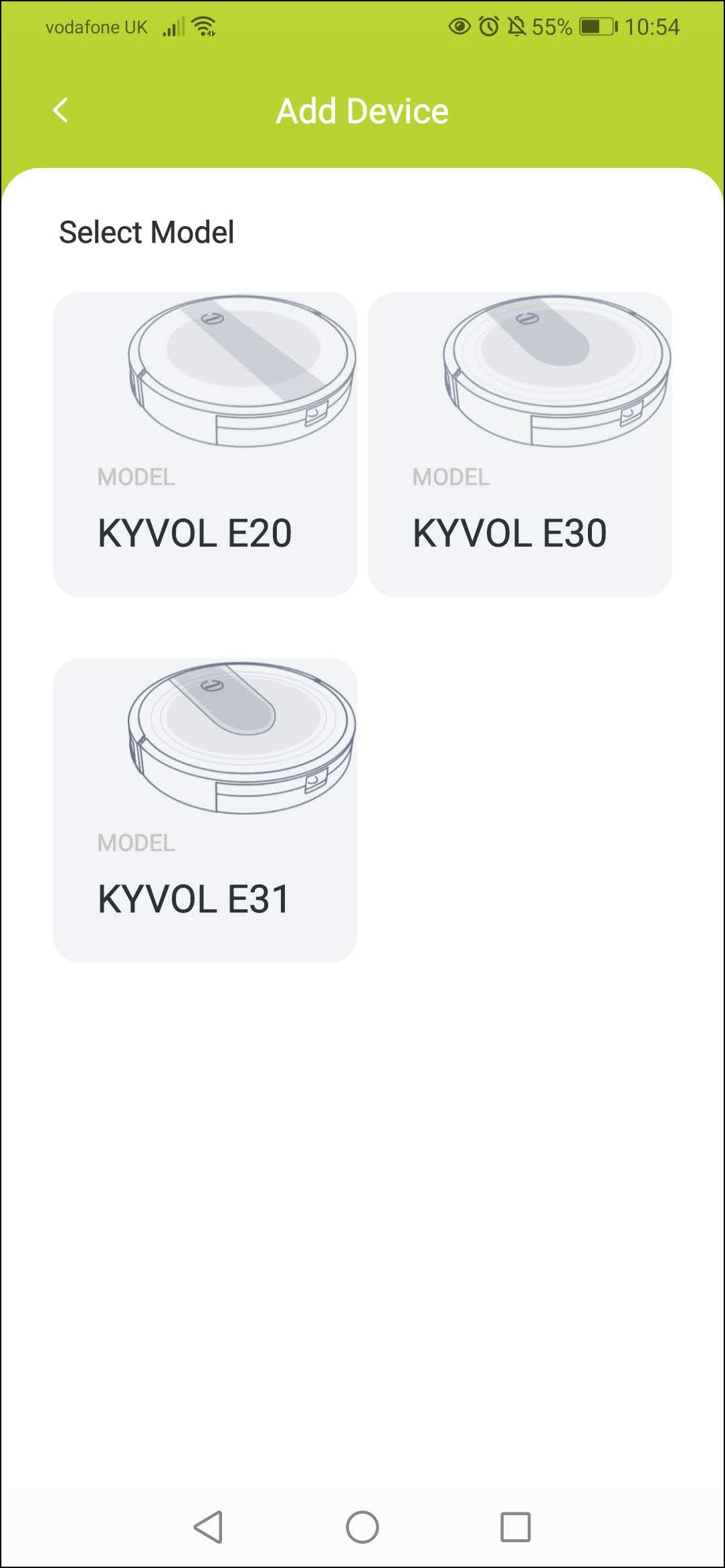 E30 app select device