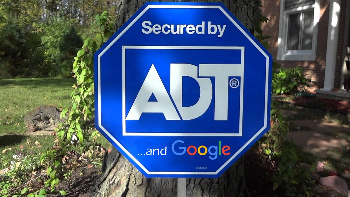 ADT security yard sign