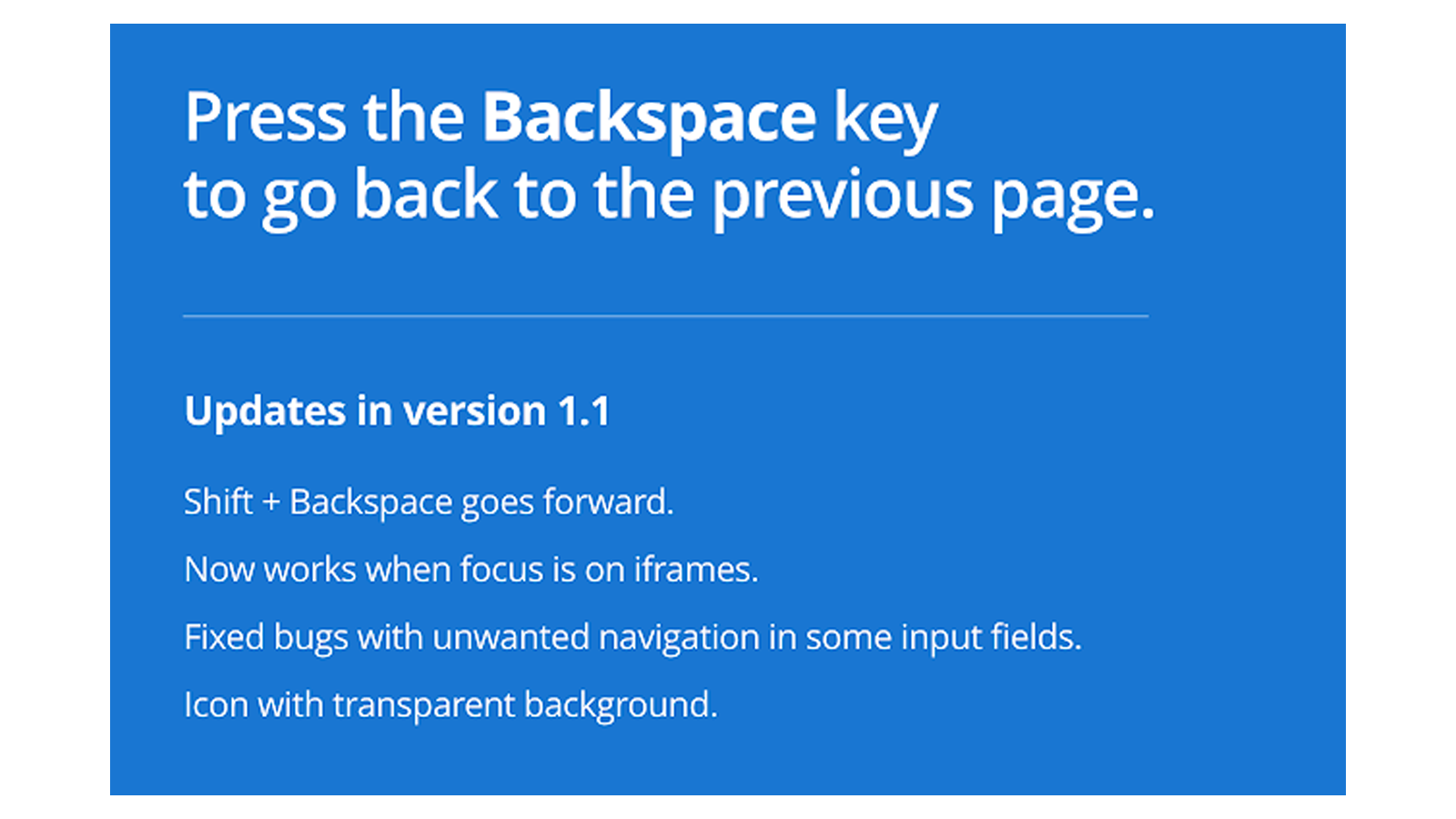 Backspace to go back app lets you do just that