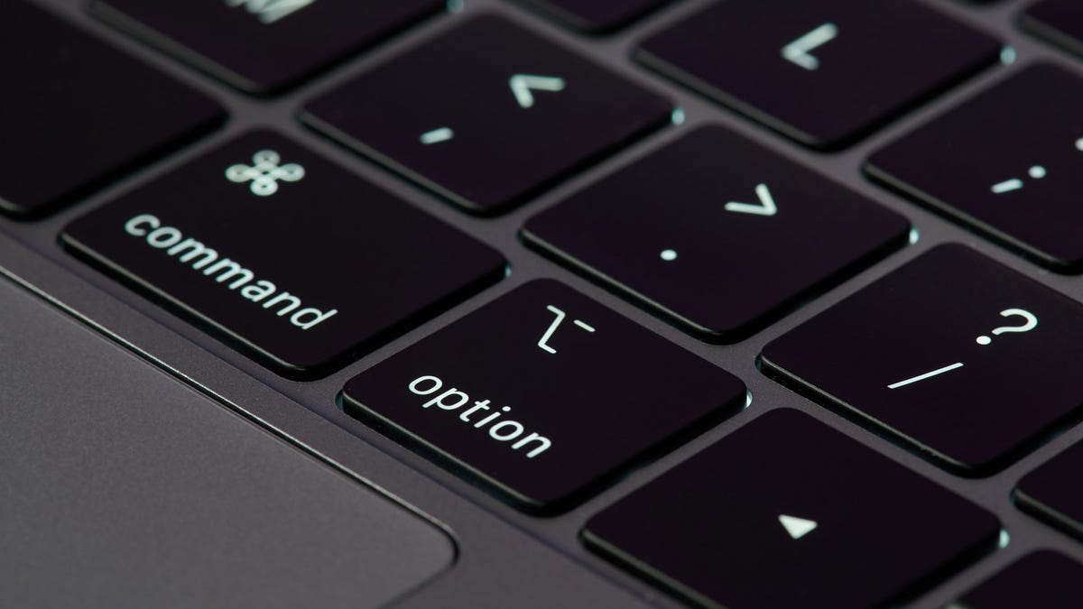 MacBook keyboard close up