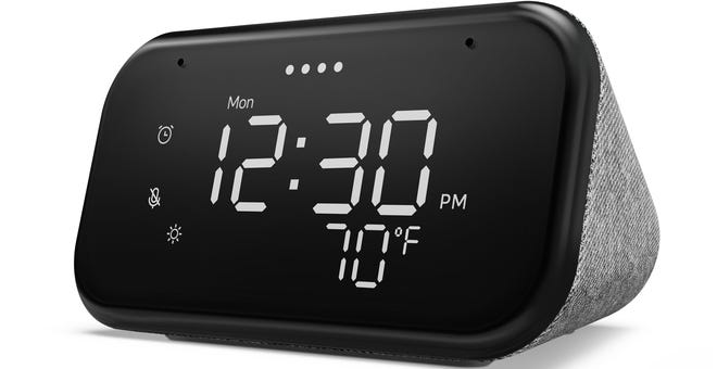 The Smart Clock Essential is Lenovo's Simpler Google-Powered Bedside Clock
