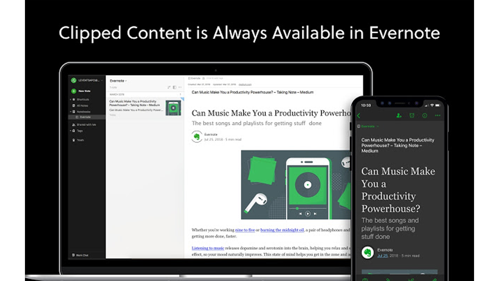 Evernote Web Clipper lets you save a clip of an article or full web page for later viewing or annotating