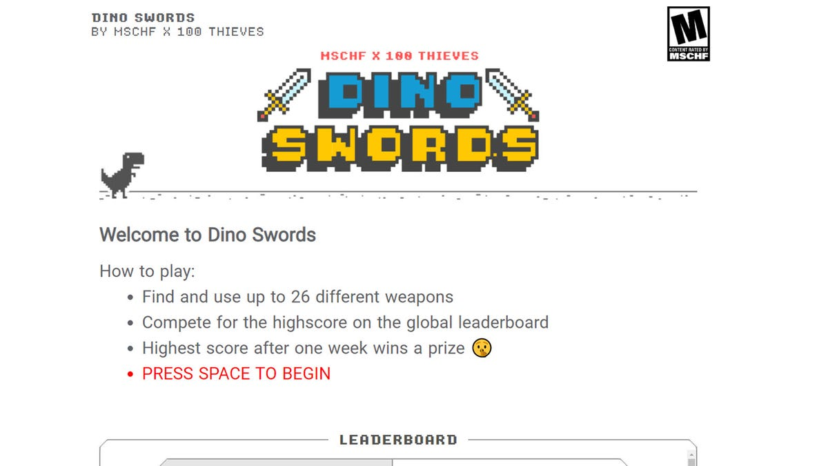 The 'Dino Swords' Loading Screen