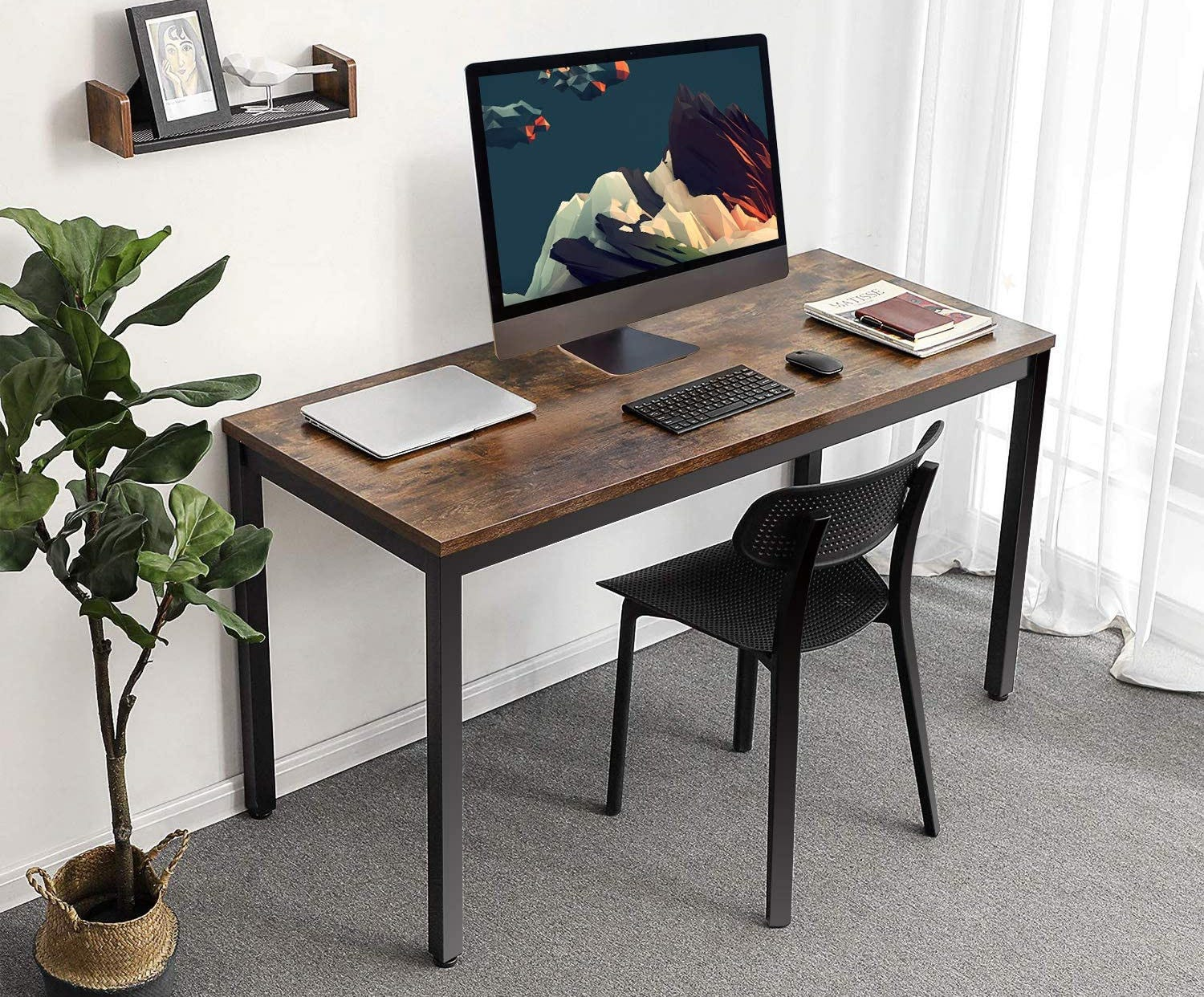 Computer table with iMac