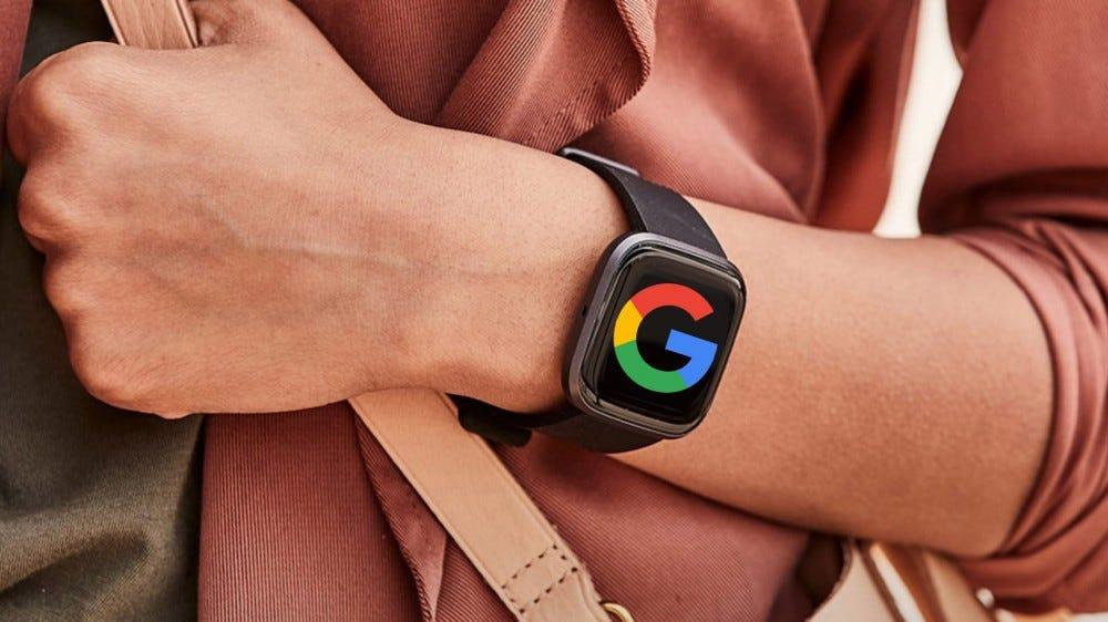 Fitbit Versa 2 with Google logo
