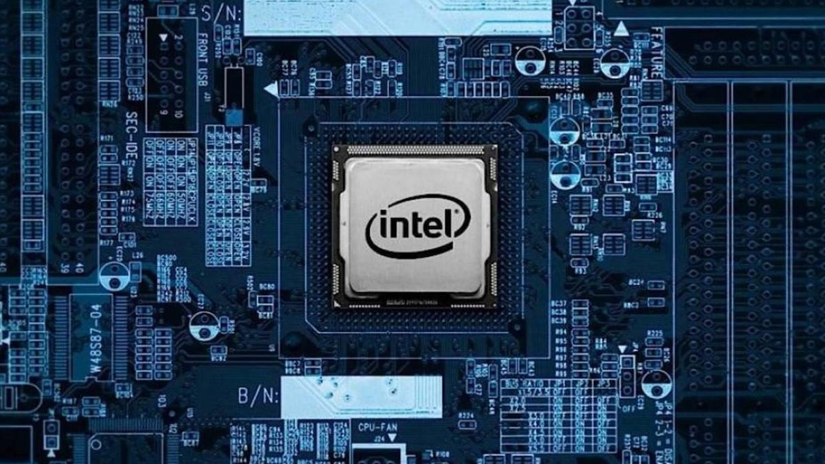 Intel chip on a circuit board