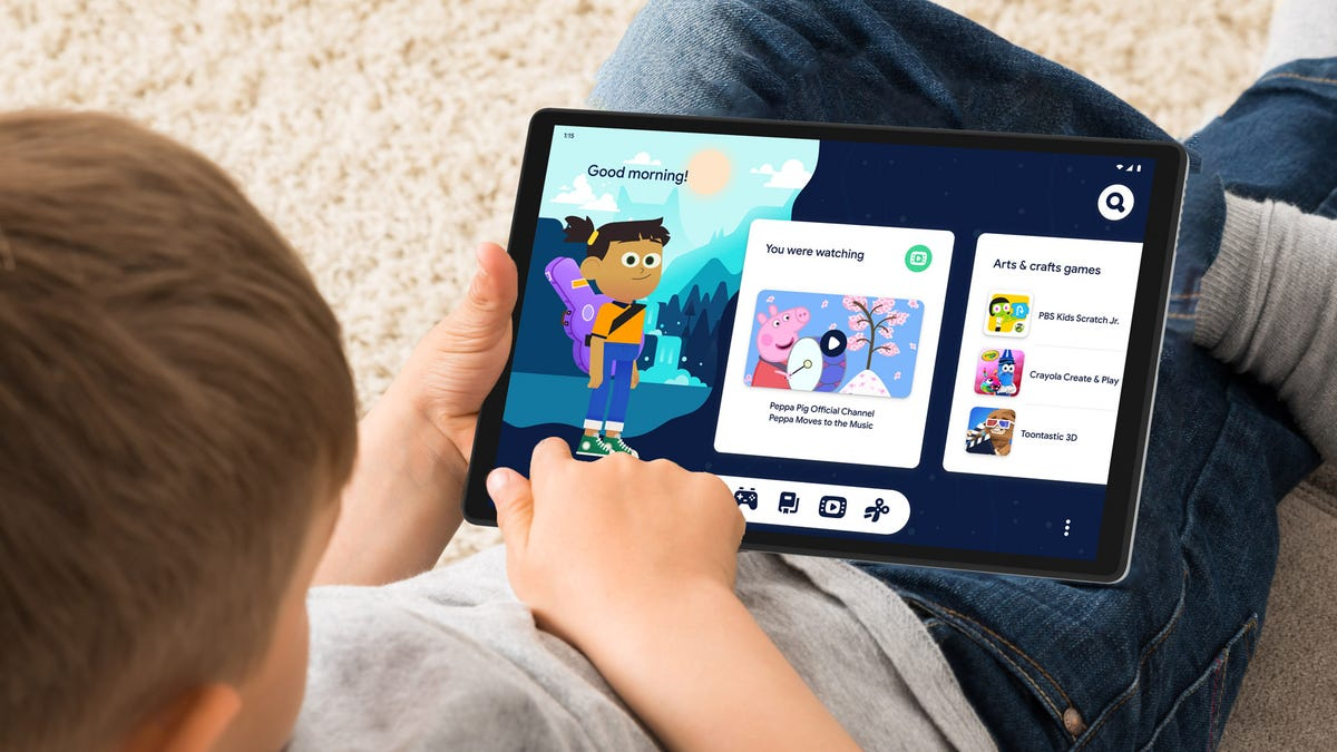 Google Kids Space on the Lenovo M10 HD Gen 2