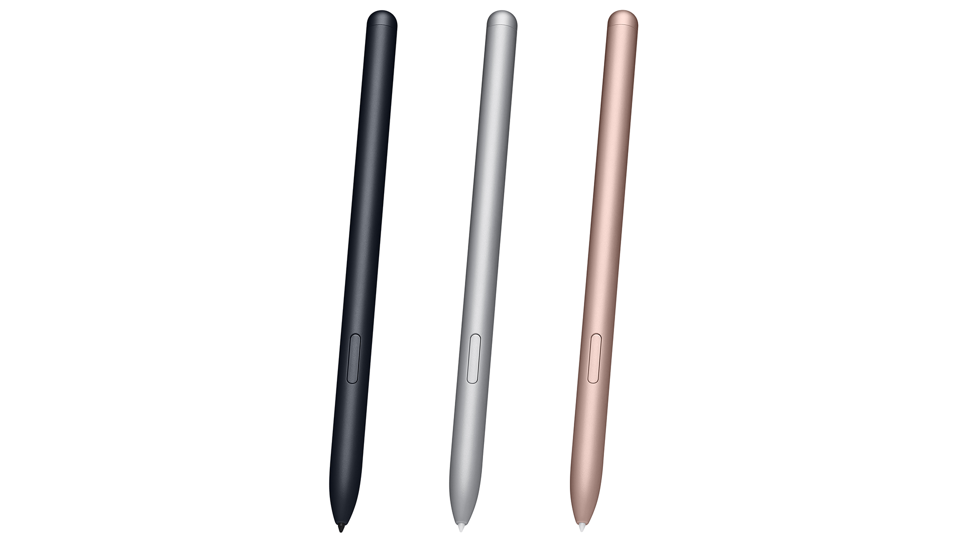 The S Pen in three colors.