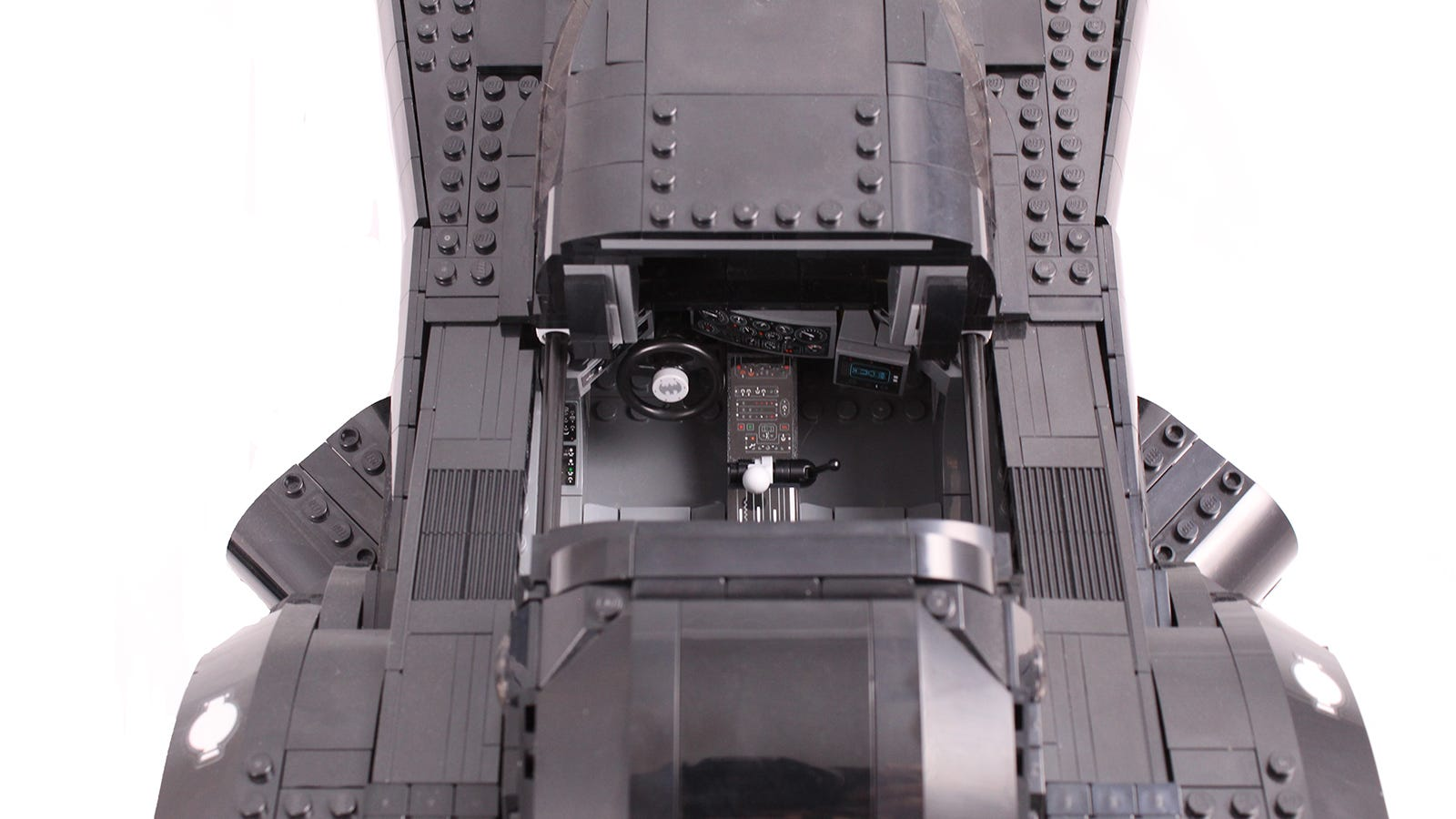 A top-down view of the Batmobile cockpit.