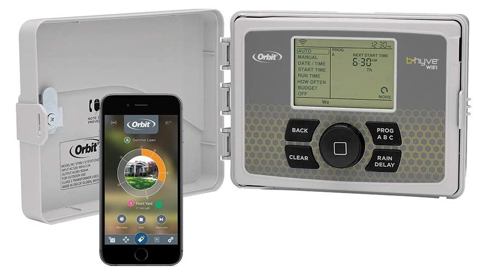 The Orbit B-hyve smart sprinkler controller and its companion app