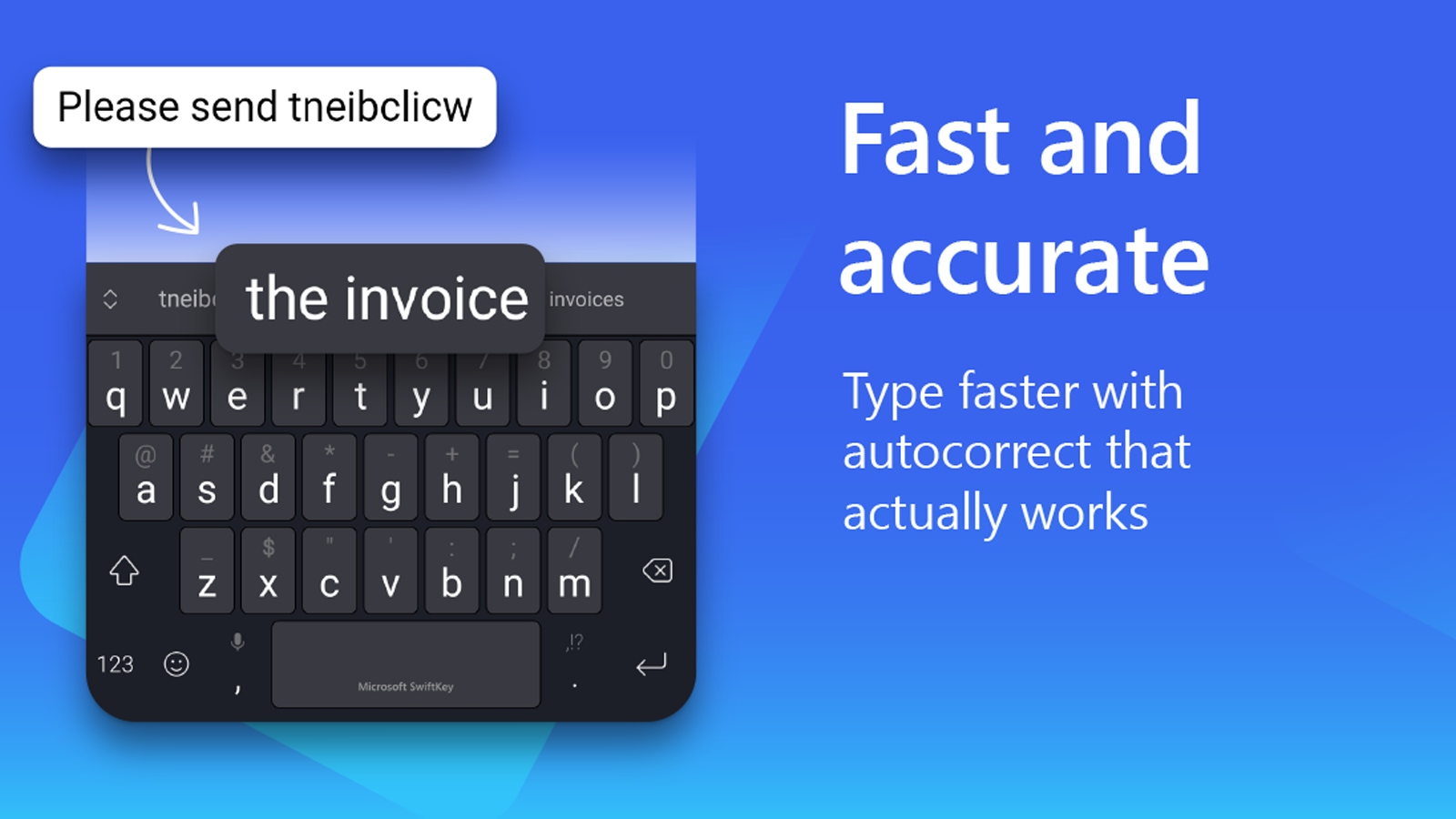 Microsoft SwiftKey app is fast and accurate