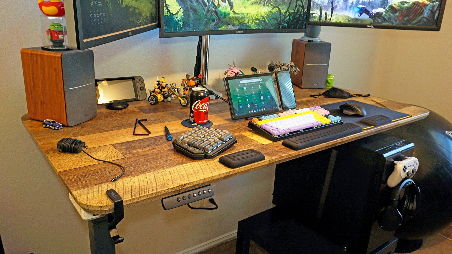 Vari Desk from the left side.