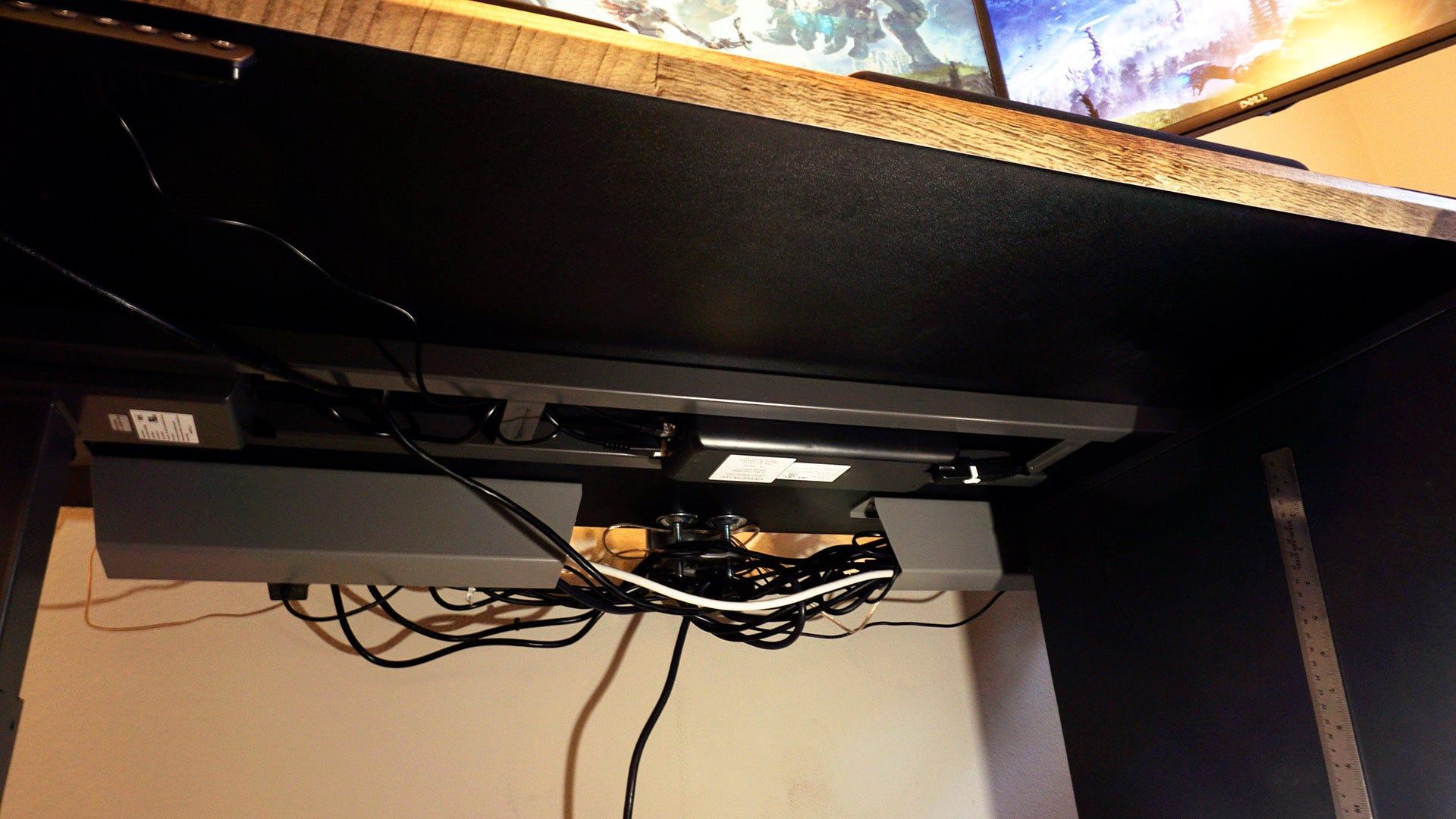 Vari Desk frame from underneath