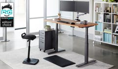 "The Vari Standing Desk Is Rock-Solid and Super Easy, But Skip the ""Wood"" Option"