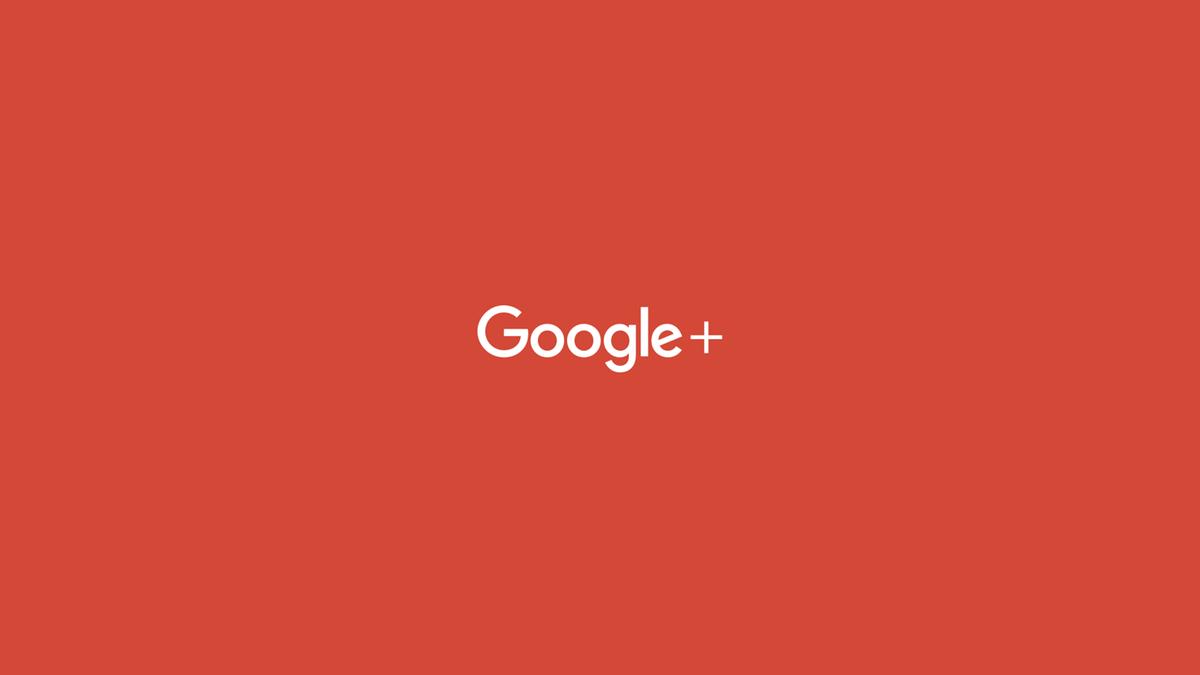The Google+ logo on an orange background