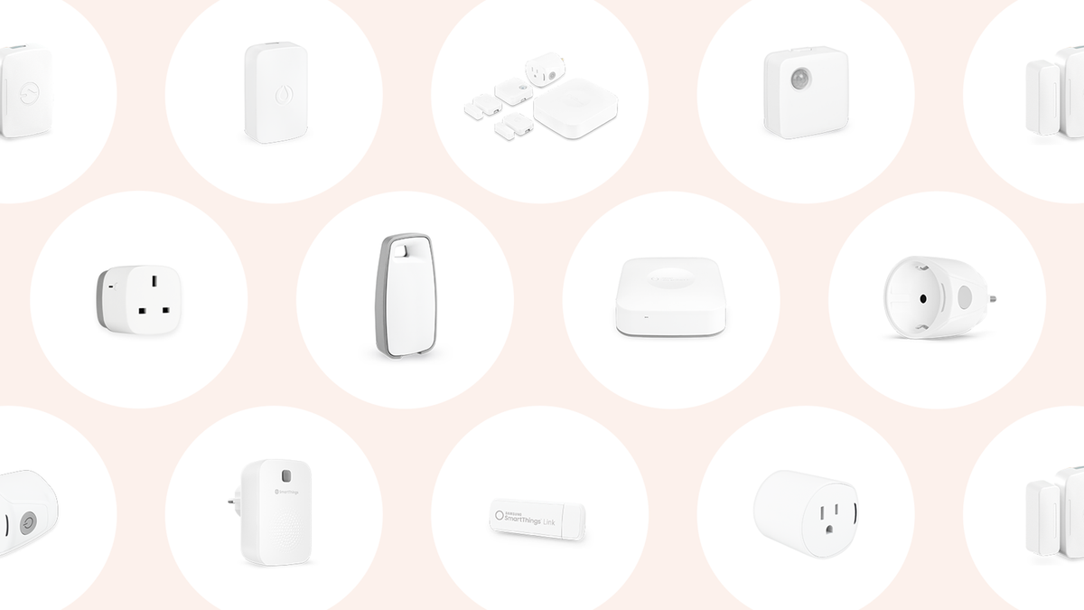 A Group of SmartThings smart home devices.