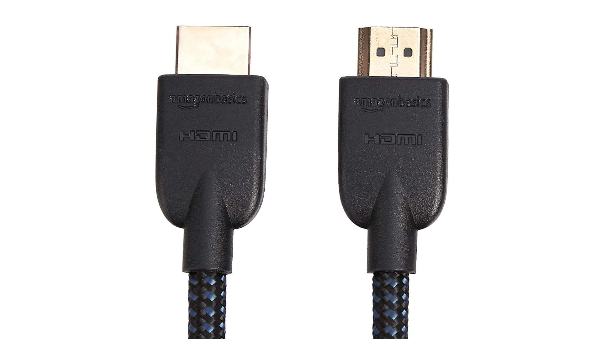 An AmazonBasics HDMI cable.