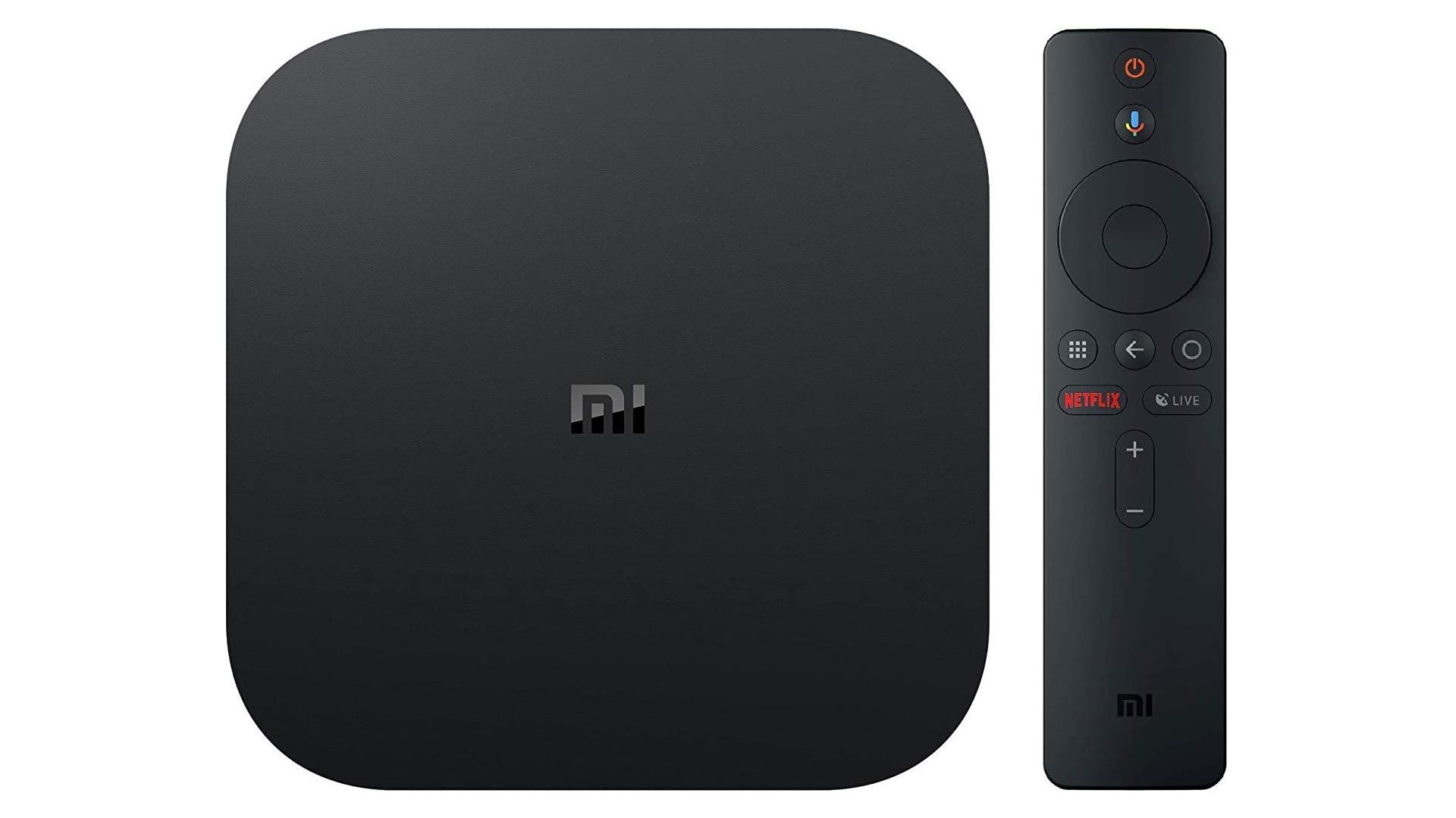 A photo of the Xiaomi Mi Box S streaming unit.