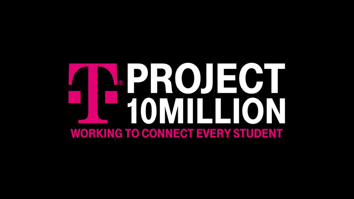 T-Mobile's Project 10Million logo against a black background