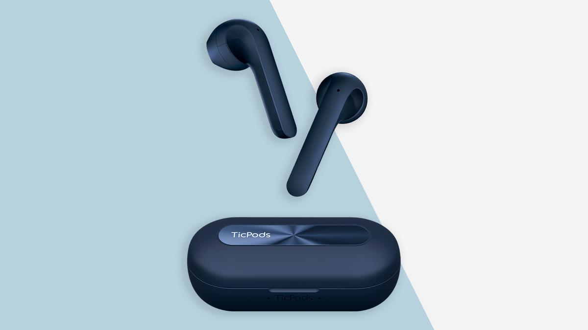 A photo of the navy blue Ticpods 2 Pro+