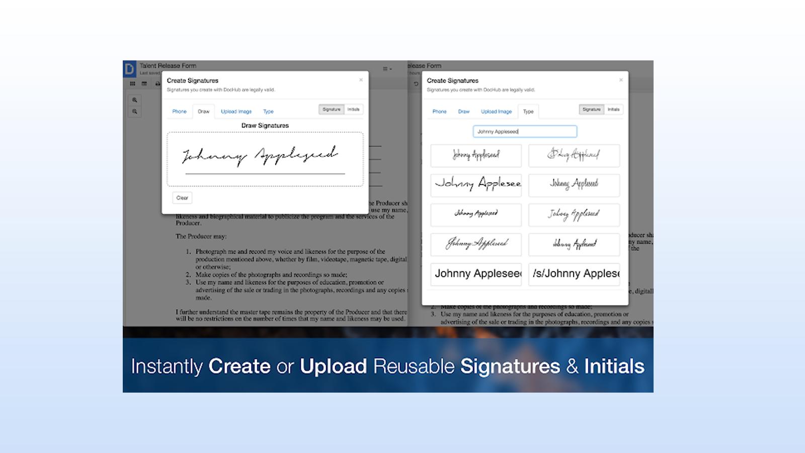 DocHub add-on for digitally signing documents