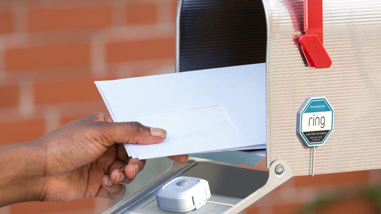 A sensor inside a mailbox.