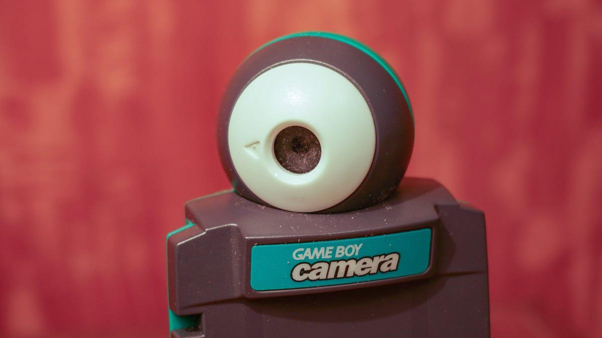 A close up of a Game Boy Camera