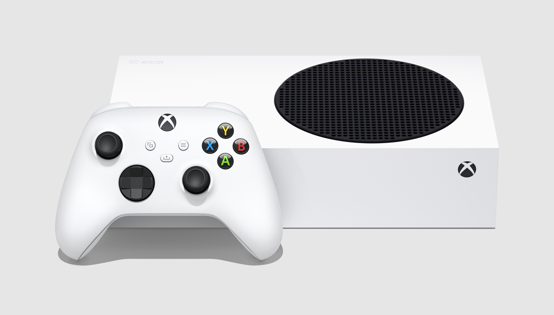 A picture of the Xbox Series S.